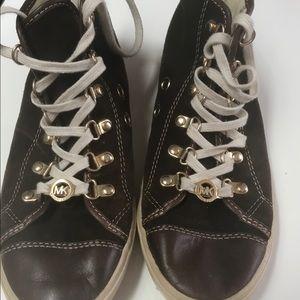 Michael Kors brown suede sneakers.